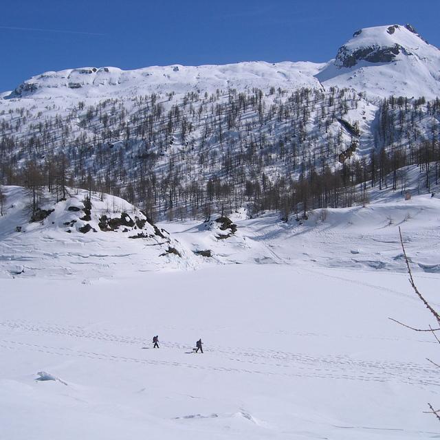 passeggiata sul lago ghiacciato, Alpe Devero