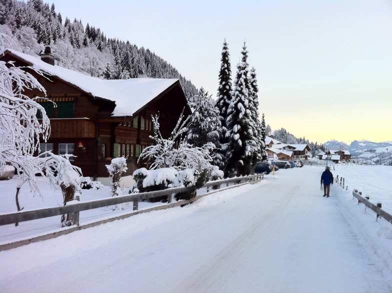 On the way to Alpine Retreat, Adelboden