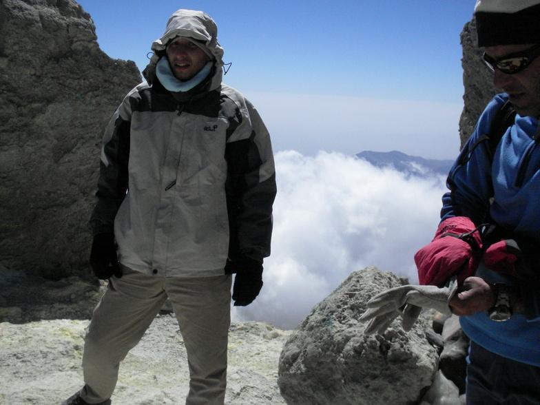 Alireza @ mt.damavand summit, Mount Damavand