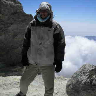 Alireza @ mt.damavand summit, Mount Damavand