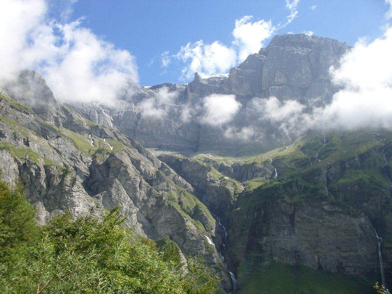 Waterfalls from the Glaciers of Sixt Fer a Cheval, Samoens