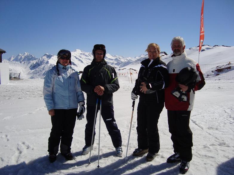 Tiny,Johnny,Simona and Cor on Gotchna, Davos