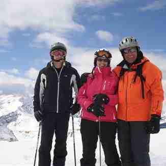 Danny,Adele and Tony on the Weissflugipfel, Davos