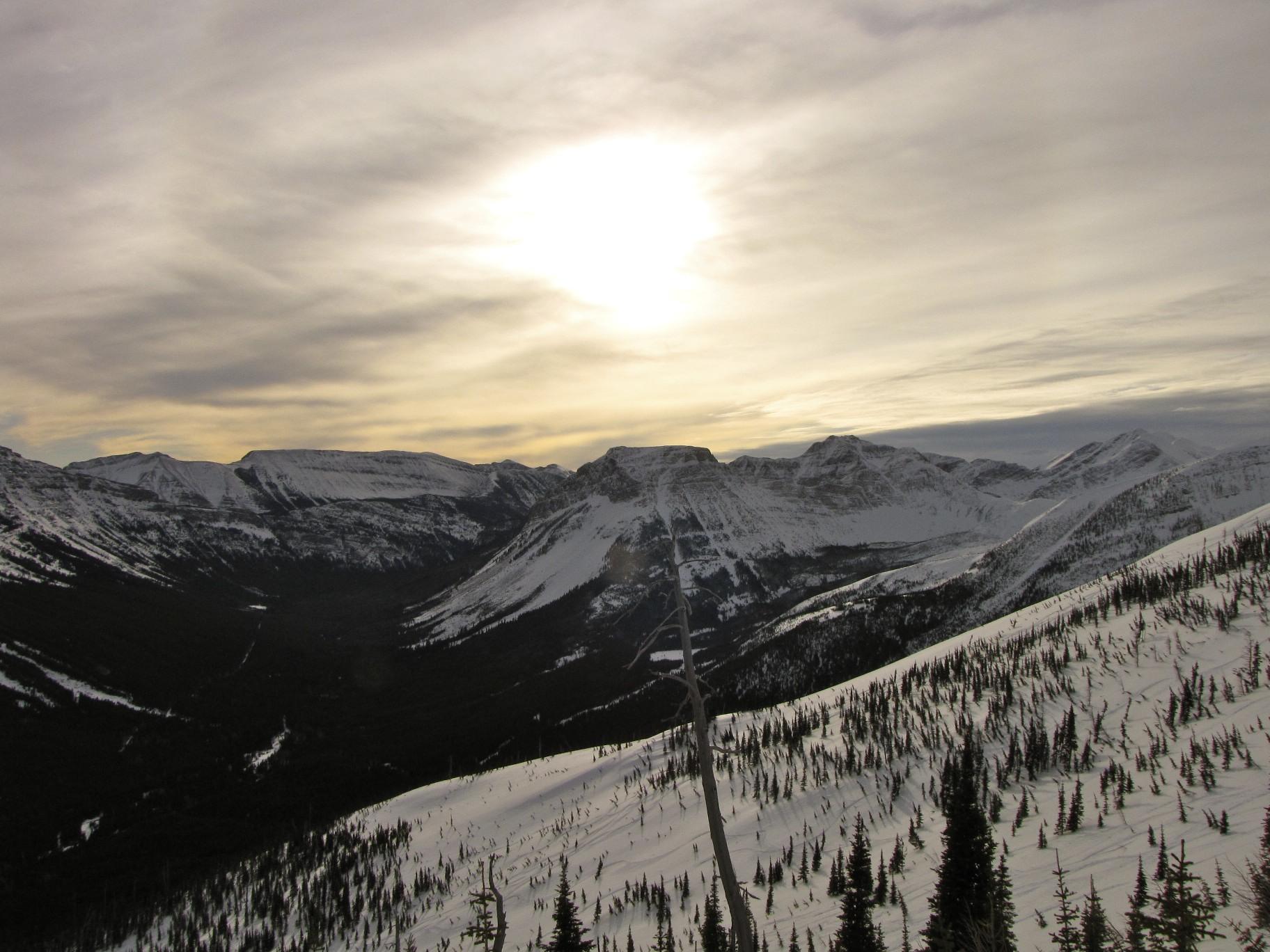Late evening sun!, Castle Mountain Resort