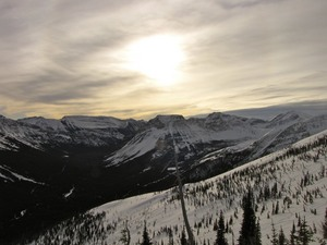 Late evening sun!, Castle Mountain Resort photo