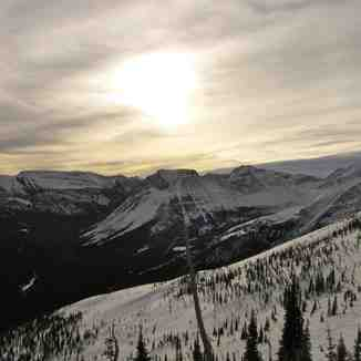 Late evening sun!, Castle Mountain Resort