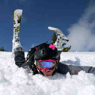 Face shots, Castle Mountain Resort