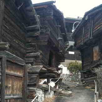 Original buildings in Winkelmatten, Zermatt