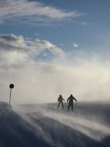 2 skiiers, Hemsedal photo