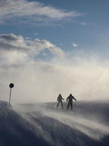 2 skiiers, Hemsedal photo