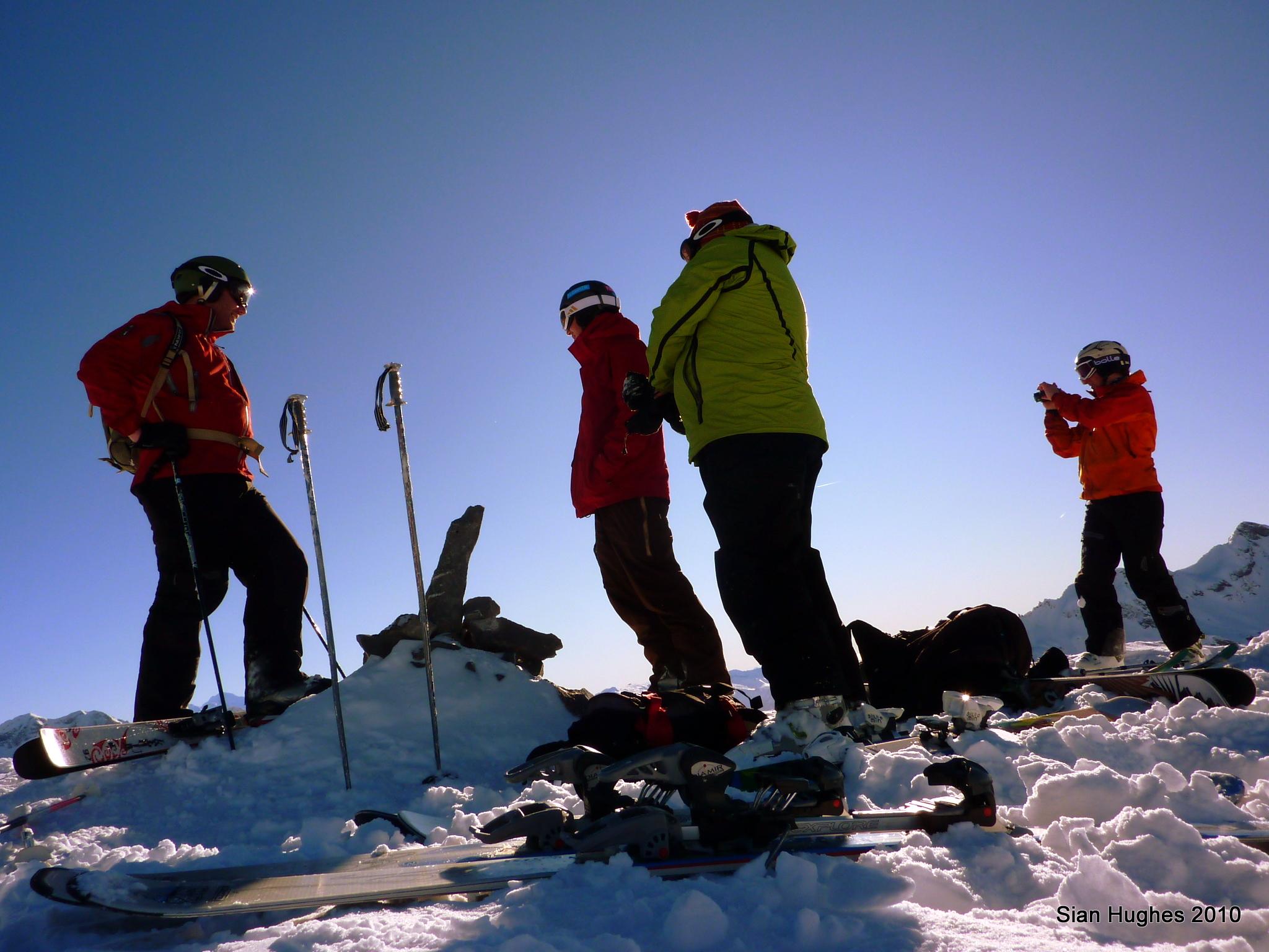 The summit of the Pt Vorlaz 2346m, Avoriaz