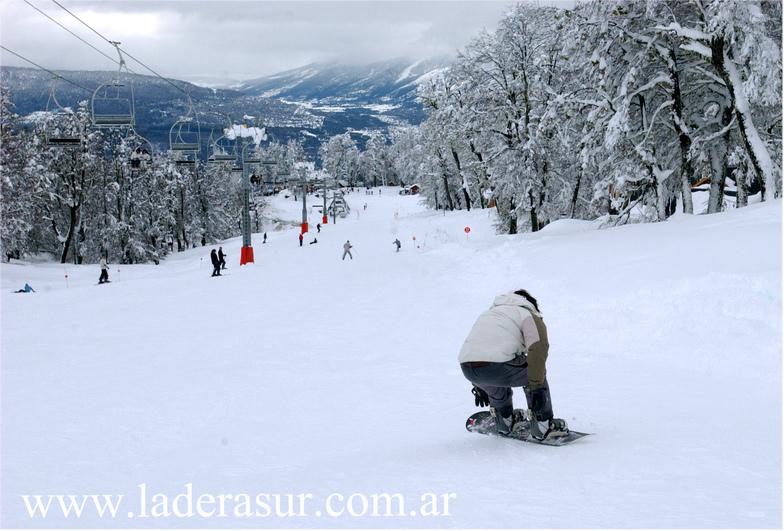 Ladera Sur ski en Las Pendientes, Chapelco