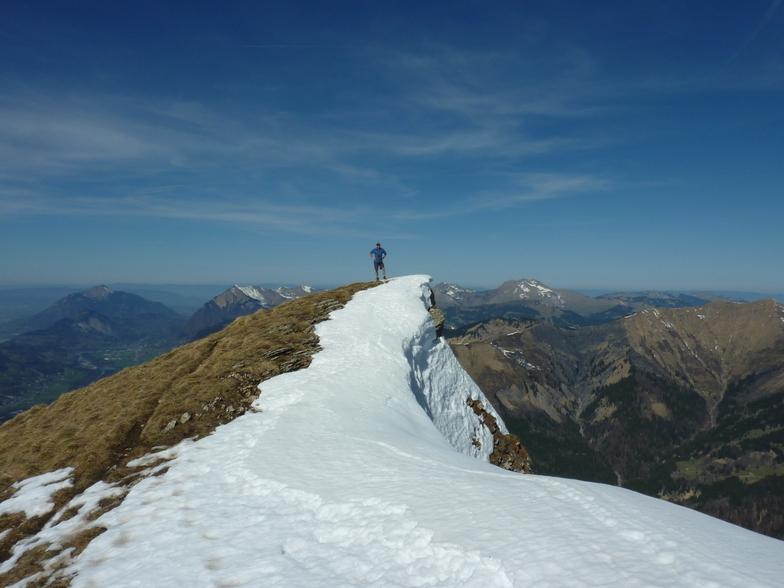 Martin at the peak of the Criou, Samoens