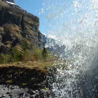 Beautiful cascade at Sixt Fer a cheval, Samoens