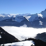 Blue morning mist in paradise, Chatel