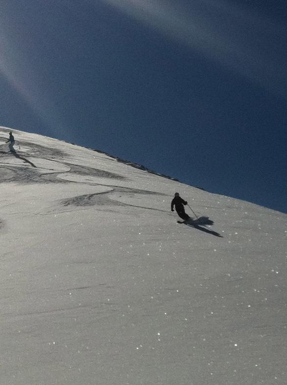 Martin skiing corn snow, Davos