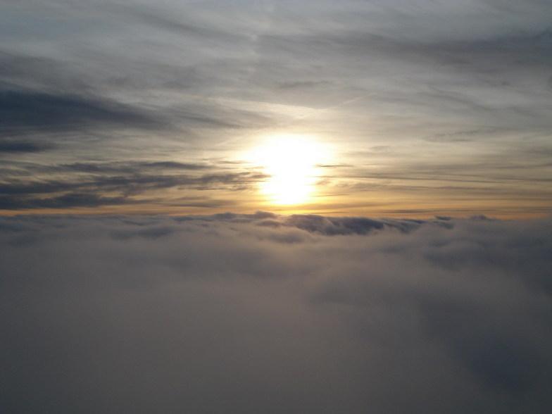 Sunset on the Chopok peak in Low Tatras - Slovakia, Jasná - Chopok