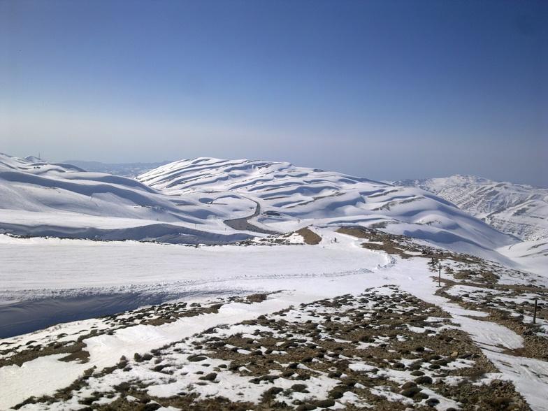 view from top of wardeh, Mzaar Ski Resort