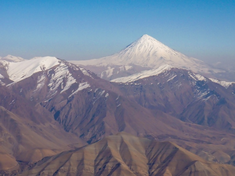 Damavand Summit as seen from Tochal