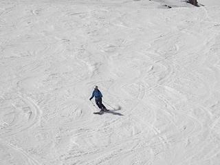 Caroline on the Weissflugipfel's nothside, Davos