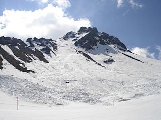 End of the season avalanches, Davos