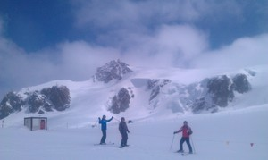Plateaux Rosa, Cervinia, 3450m at end of April 2011, Breuil-Cervinia Valtournenche photo