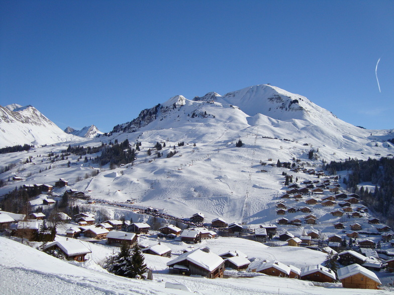 View of the top of Lachat, Le Grand Bornand