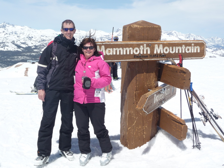 on top of mammoth mountain