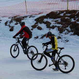 Tambien mountainbike en invierno, Cerro Mirador