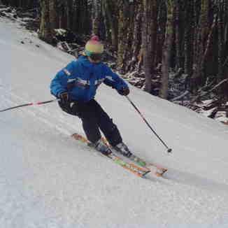 esquiadora del CAPA, Cerro Mirador