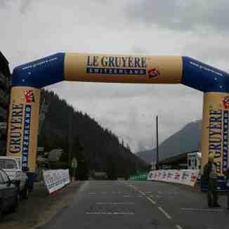 Tour de Romandie visits the summit of the Col Du Corbier in Drouzin Le Mont