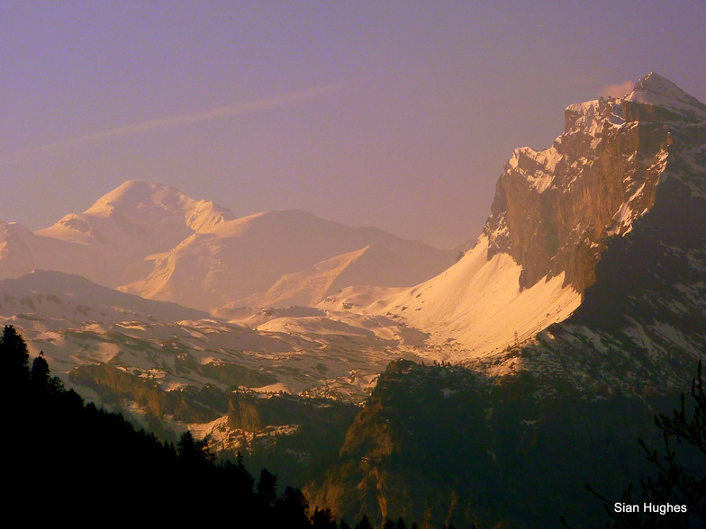 Mt Blanc and the Anterne Valley, Samoens
