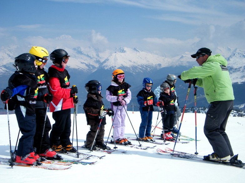 Snowy beginners slopes, Les Coches