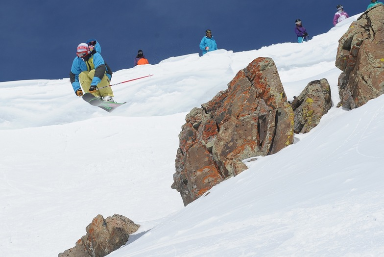Air in Candy's Couloir, Irwin Catskiing by Eleven