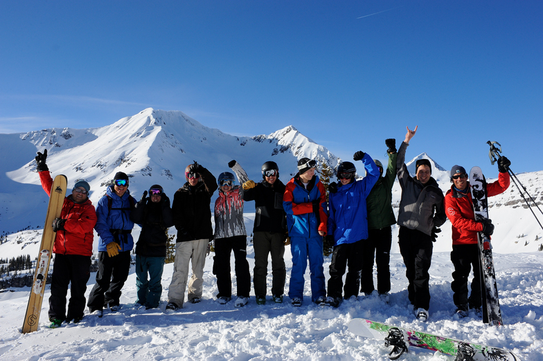 Happy Group, Irwin Catskiing by Eleven