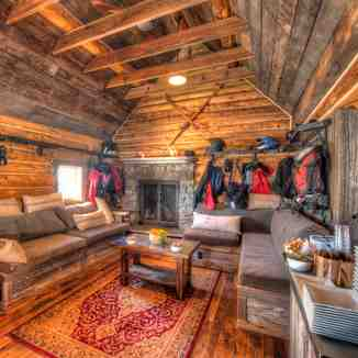 Inside the Movie cabin, Irwin Catskiing by Eleven
