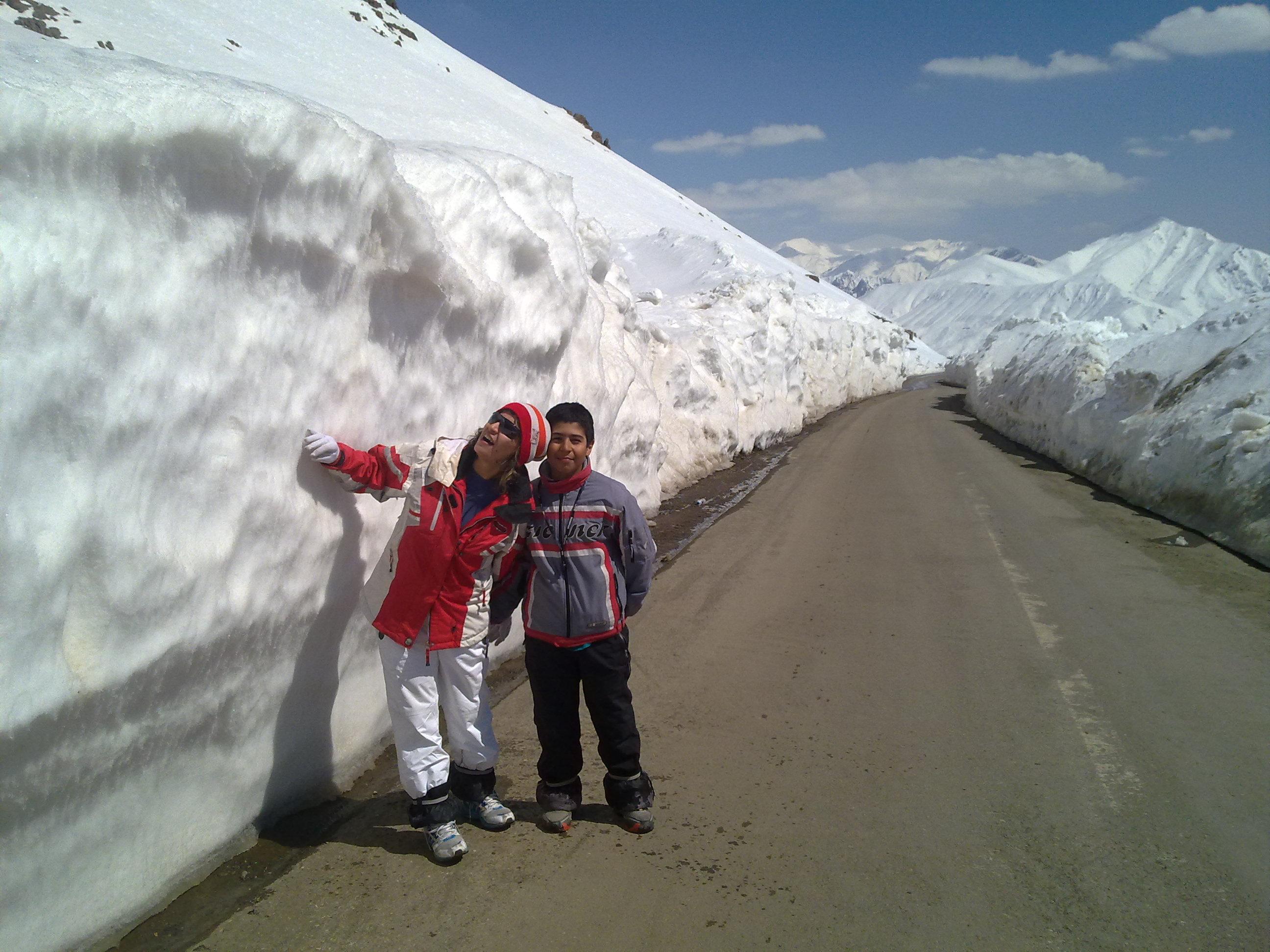 dream snow on the road, Dizin