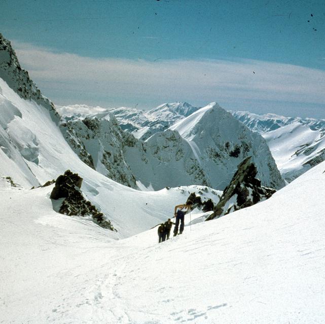 Tasman saddle 1980, Aoraki-Mt Cook