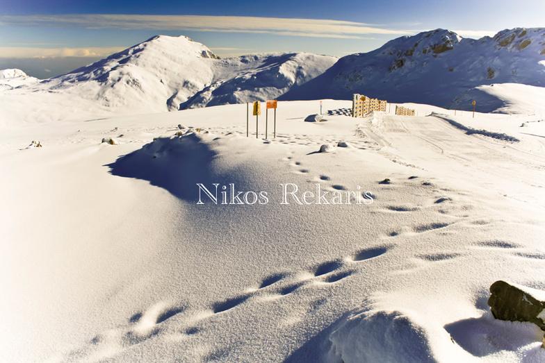First snowfall, Mount Parnassos