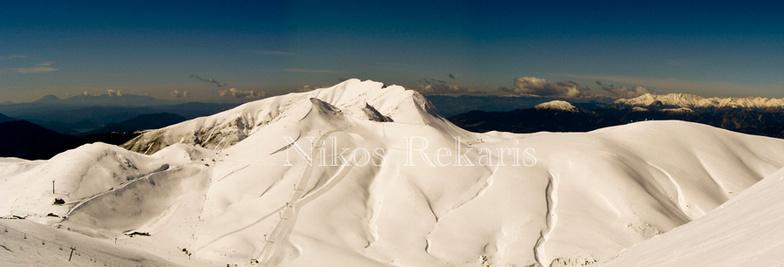 Panorama of Velouchi ski center, Karpenisi