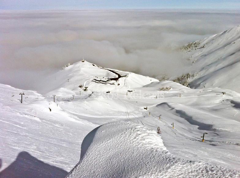 Fterolaka,chalet at the bottom, Mount Parnassos