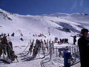 Blue bird day, Mount Cheeseman photo