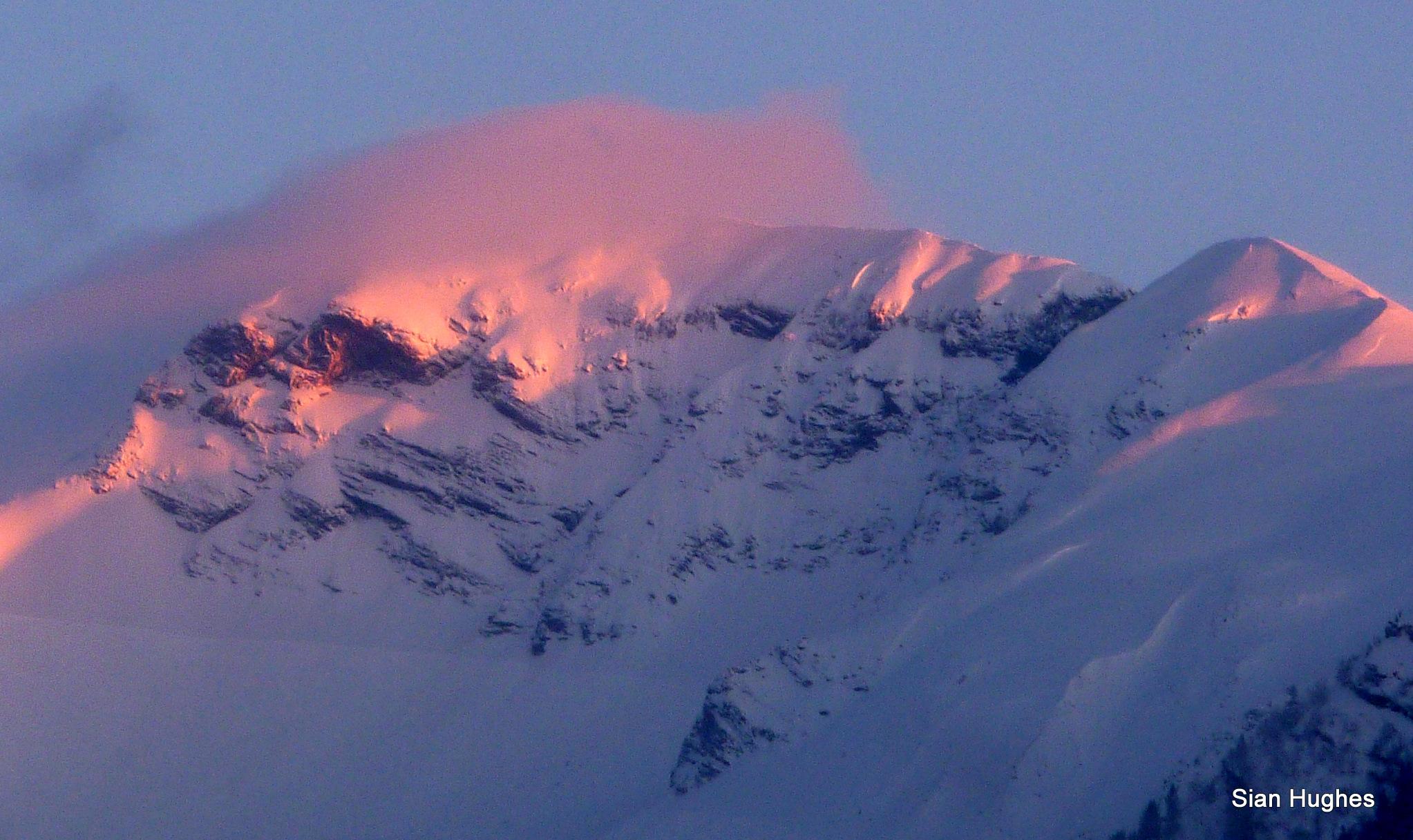 Sunset on the Hautes Fortes, Morzine