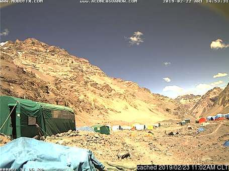 Aconcagua webcam at lunchtime today