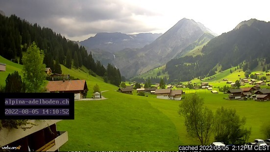 Adelboden webcam at 2pm yesterday