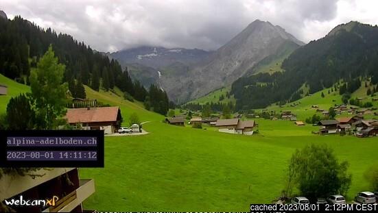 Adelboden Webcam gestern um 14.00Uhr