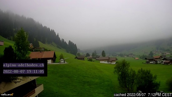 Live Snow webcam for Adelboden