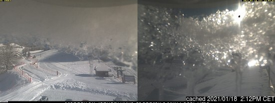 Aillons-Margeriaz webcam at 2pm yesterday
