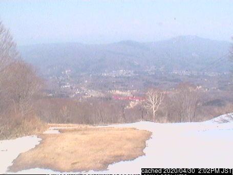 Akakura Kanko webcam at 2pm yesterday