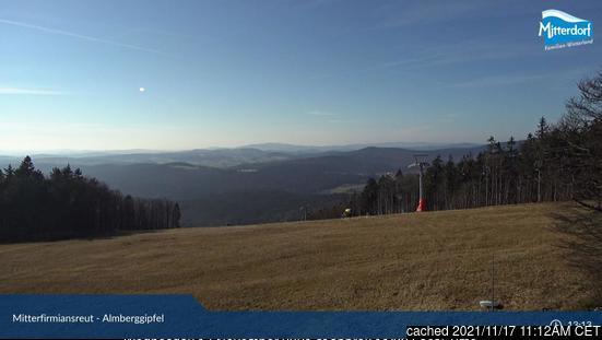 Almberg/Skizentrum Mitterdorf Webcam gestern um 14.00Uhr